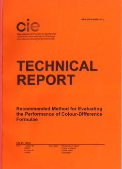 CIE 217: Recommended Method for Evaluating the Performnce of Colour-Difference Formulae