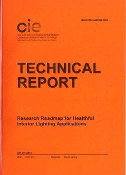 CIE 218: Research Roadmap for Healthful Interior Lighting Applications