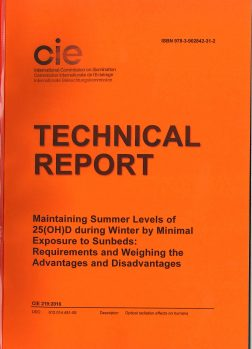 CIE 219: 2016  TR  Maintaining Summer Levels of 25(OH)D during winter by Minimal Exposure to Sunbeds